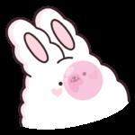 Кролик Супчик белый: cтикер №27