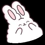 Кролик Супчик белый: cтикер №30