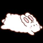 Кролик Супчик белый: cтикер №32