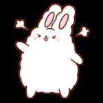 Кролик Супчик белый: cтикер №34