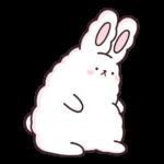 Кролик Супчик белый: cтикер №35