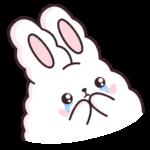 Кролик Супчик белый: cтикер №36