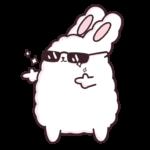 Кролик Супчик белый: cтикер №37