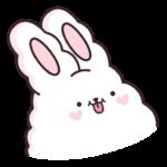 Кролик Супчик белый: cтикер №42