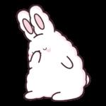 Кролик Супчик белый: cтикер №43