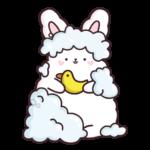 Кролик Супчик белый: cтикер №45