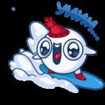 Снежок: cтикер №12