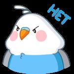 Голубой Птенчик: cтикер №25