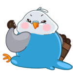 Голубой Птенчик: cтикер №27