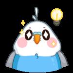 Голубой Птенчик: cтикер №37