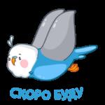 Голубой Птенчик: cтикер №46