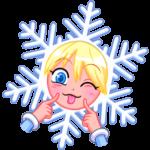 Снегурка: cтикер №22