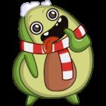 Праздничный Авокадик: cтикер №4
