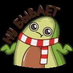 Праздничный Авокадик: cтикер №7