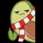 Праздничный Авокадик: cтикер №9