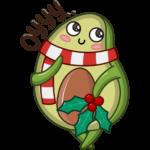 Праздничный Авокадик: cтикер №13