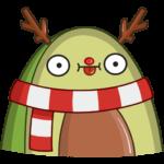 Праздничный Авокадик: cтикер №20