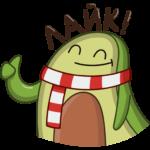 Праздничный Авокадик: cтикер №21