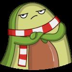 Праздничный Авокадик: cтикер №34