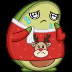 Праздничный Авокадик: cтикер №35