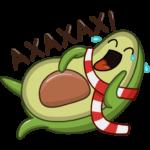 Праздничный Авокадик: cтикер №44