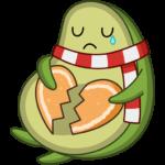 Праздничный Авокадик: cтикер №47