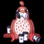 Птичка: cтикер №28