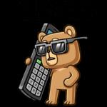 Медведь Женя: cтикер №1
