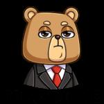 Медведь Женя: cтикер №2