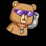 Медведь Женя: cтикер №3