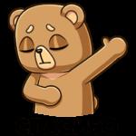 Медведь Женя: cтикер №4