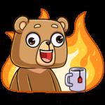 Медведь Женя: cтикер №16