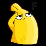Бананос в гостях у Пятёрочки: cтикер №4