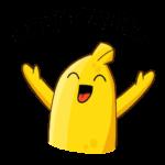 Бананос в гостях у Пятёрочки: cтикер №15
