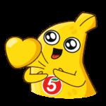 Бананос в гостях у Пятёрочки: cтикер №16