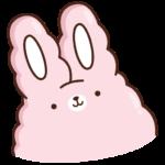 Кролик Супчик розовый: cтикер №1