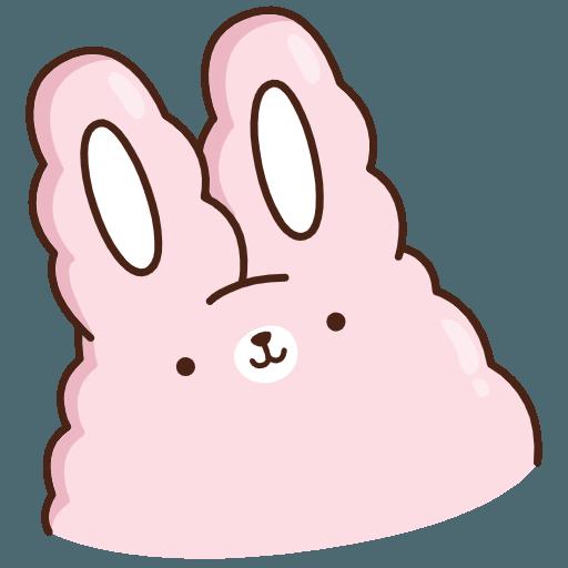 Стикеры «Кролик Супчик розовый»