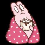 Кролик Супчик розовый: cтикер №2