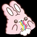 Кролик Супчик розовый: cтикер №3