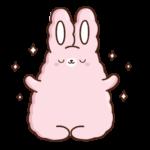 Кролик Супчик розовый: cтикер №4