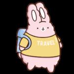 Кролик Супчик розовый: cтикер №8