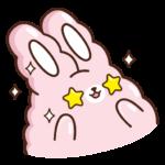 Кролик Супчик розовый: cтикер №9