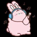 Кролик Супчик розовый: cтикер №10