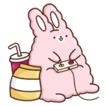 Кролик Супчик розовый: cтикер №11