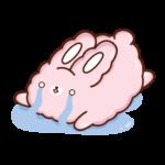 Кролик Супчик розовый: cтикер №14
