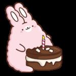 Кролик Супчик розовый: cтикер №15