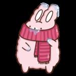 Кролик Супчик розовый: cтикер №16