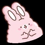 Кролик Супчик розовый: cтикер №18