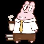 Кролик Супчик розовый: cтикер №19