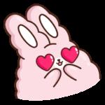Кролик Супчик розовый: cтикер №21